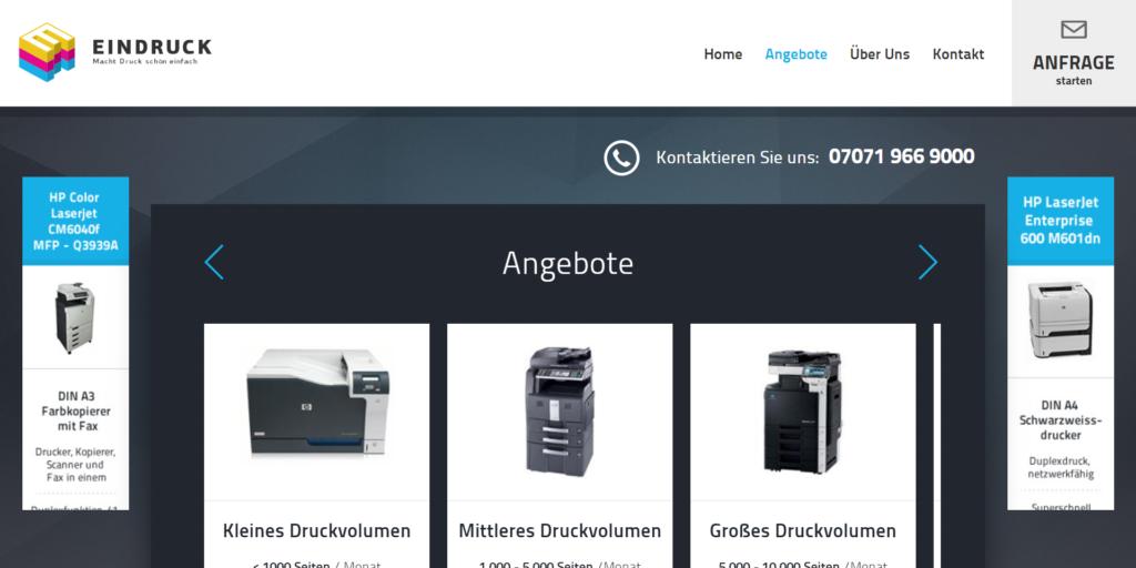 Website Eindruck-IT Startseite